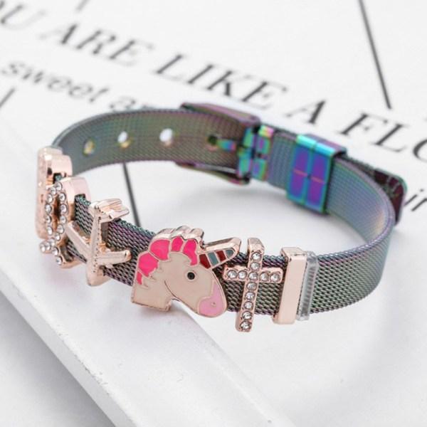 mesh armband för kvinnor män gyllene kärlek hjärta pärlstav 10mm ribbo