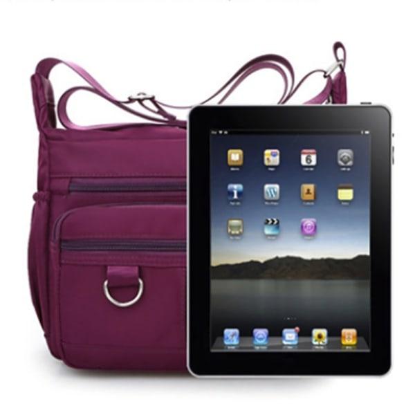 Multi Pocket Shoulder Bag Corss-body Purse Vattentät Nylon Tra