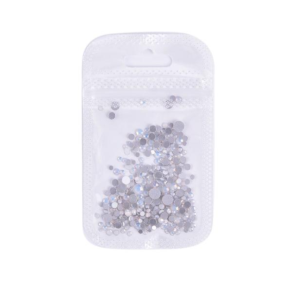 Multi storlek nagelkonst kristallglas pärlor platt botten Opal nagel Rh