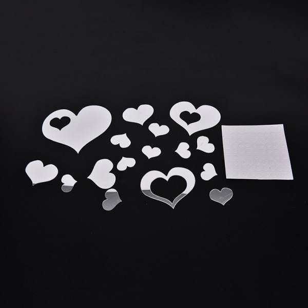 Nya 3D Hjärtspegel Väggdekaler Dekal Hem DIY Dekor Rum Dec