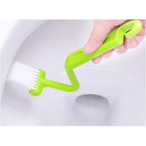 Ny sanitär S-typ toalettborste böjd rengöring av böjd handtag Sc