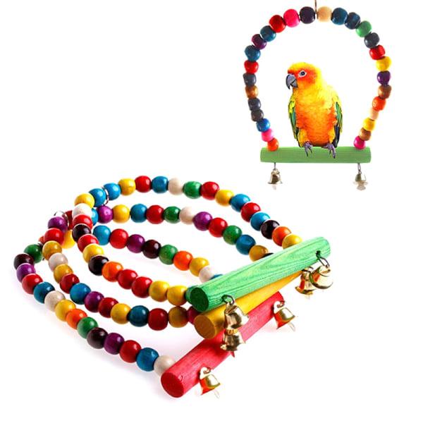 Pet Bird Swing Papegoja Parakit Budgie Cockatiel Cage Hammock To