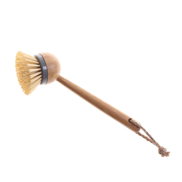Grytans skålborste Tvättrengöringsborste med träbambu P
