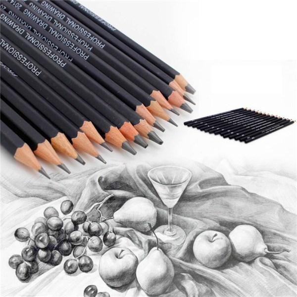 Professinal uppsättning med 14 skiss konst ritning penna 6H-12B Sketchin