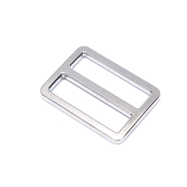 Rektangel Metall Tri Glide Ryggsäckrem Justera väska Spänne Webb