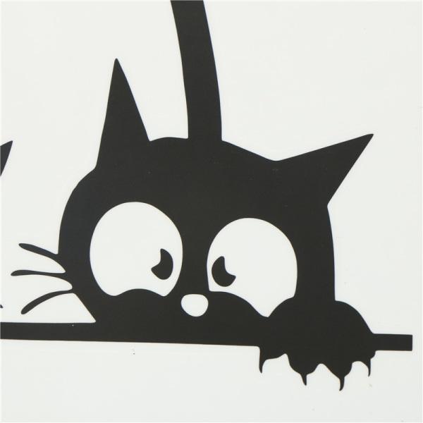 avtagbara tre svart katt väggdekaler konst dekal väggmålning diy kid