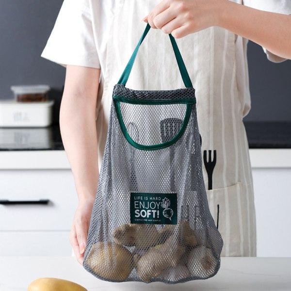 Återanvändbara påsar för nätproduktion Frukt Grönsakslök Förvaring Shoppi