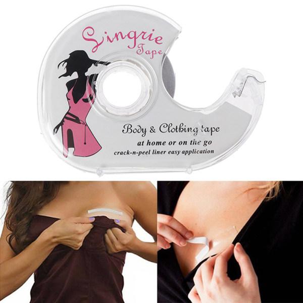 Säker dubbelsidig självhäftande underkläder Tape Bra Strip Medicinskt tejp
