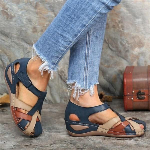 sandaler vattentäta runda tofflor casual bekväm utomhus pl