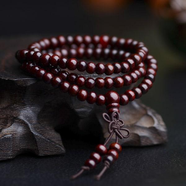 Sandelträ tibetansk buddism Mala Sandal bönpärlor 108 pärlor