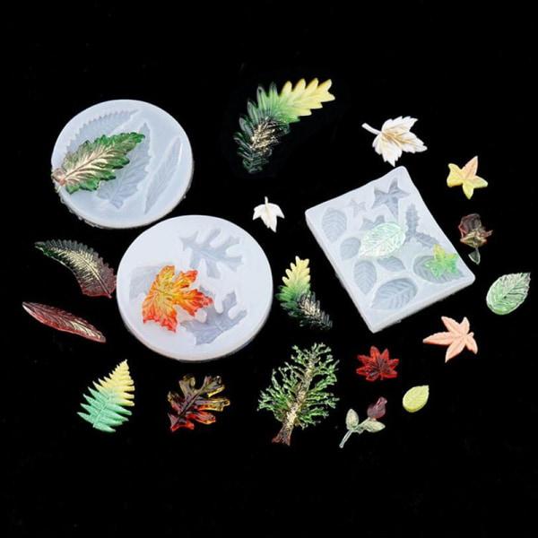 Silikon lönnlöv mögel DIY handgjorda smycken Craft Decor Res