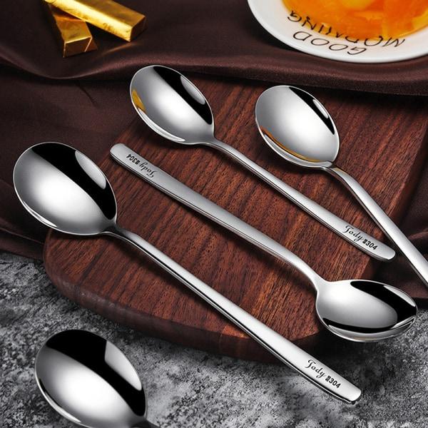 rostfritt stål kaffesked tesked för picknick servis kitc