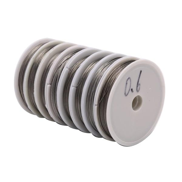 Rostfritt stål Craft Wire Många storlekar Spole Tillbehör Beading DI
