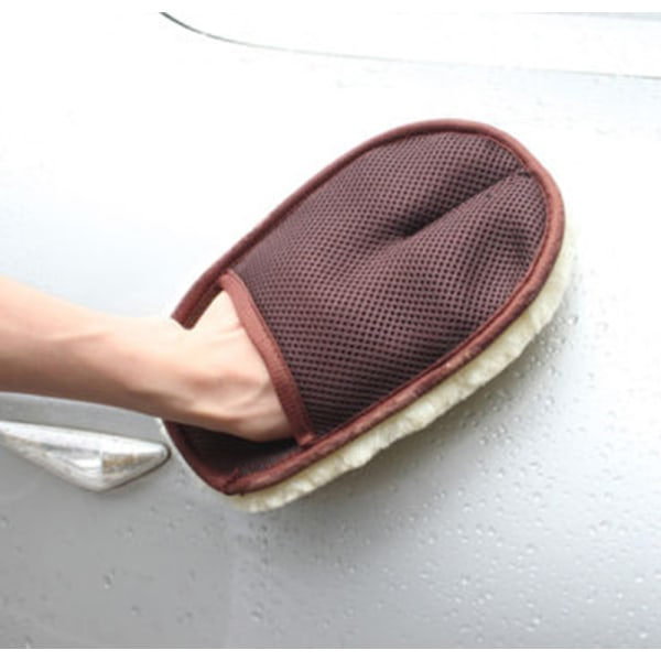 Super Soft Lambswool Car Wash Mitt Deep Pile Car Cleaning Handske