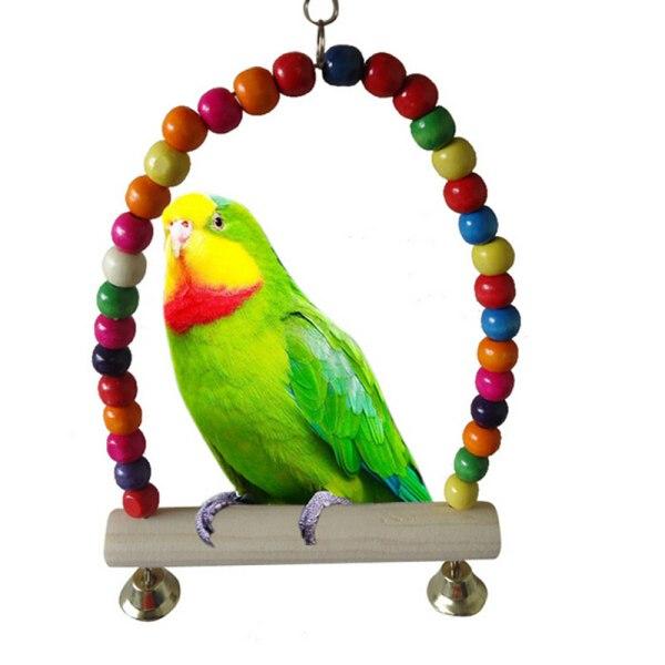 SWING BIRD TOY papegoja bur leksaker burar undulat cockatiel lovebi