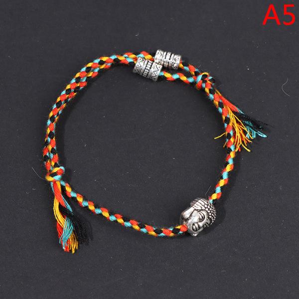 Tibetanska buddhistiska Lucky Woven Amulet Tibet Cord Armband Armband