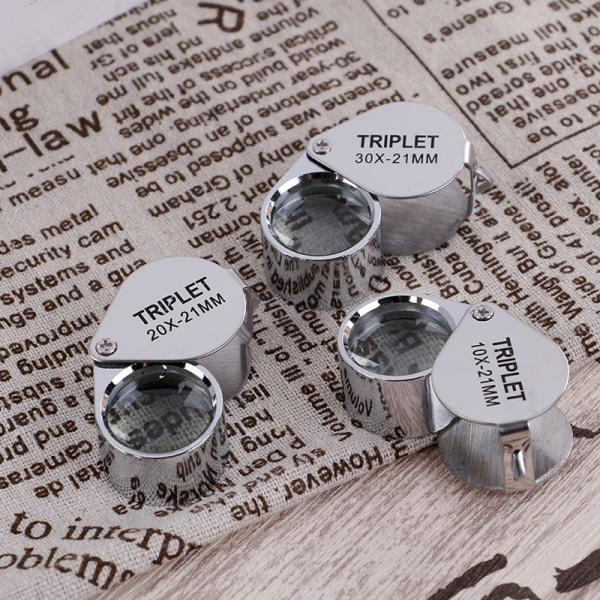 Triplet Jewelers Eye Loupe Magnifier Förstoringsglas Smycken D