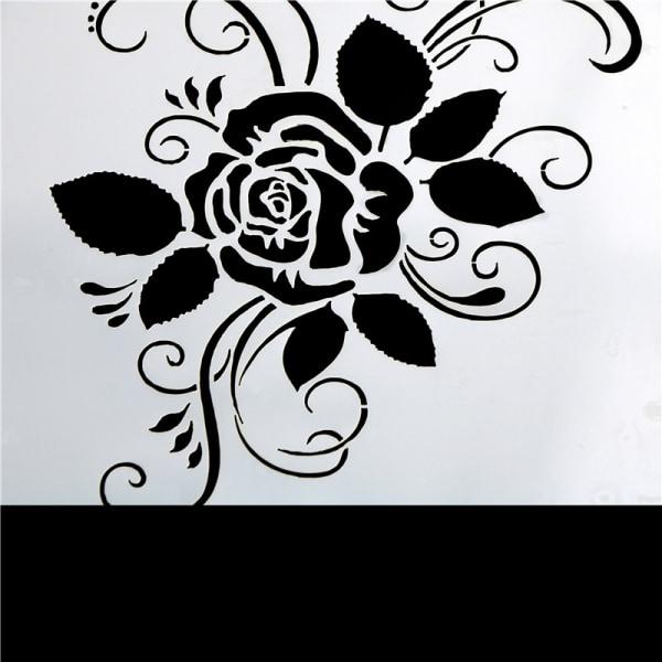 Unika Rose Cake Stencils Cookie Mögel Kaffe Mögel Bakverk Verktyg
