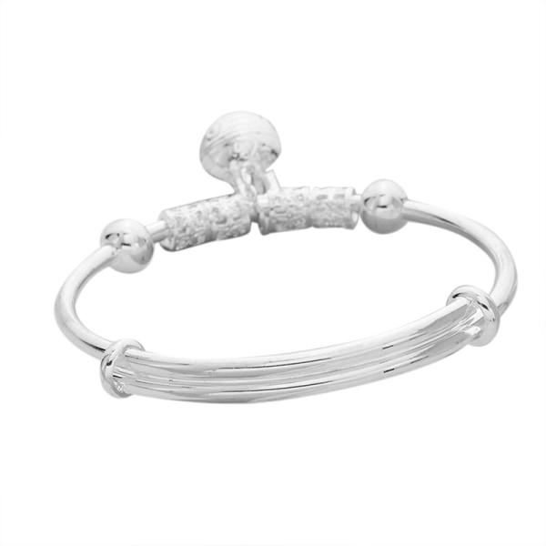Vintage mode kvinnor Bell smycken försilvrad manschett armband