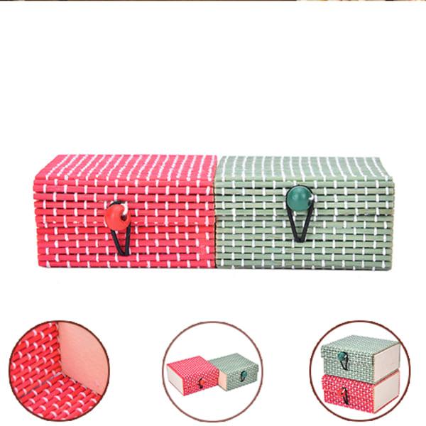 Partihandel Bambu Trä Smycken Arrangör Förvaringsbox Rem Cra