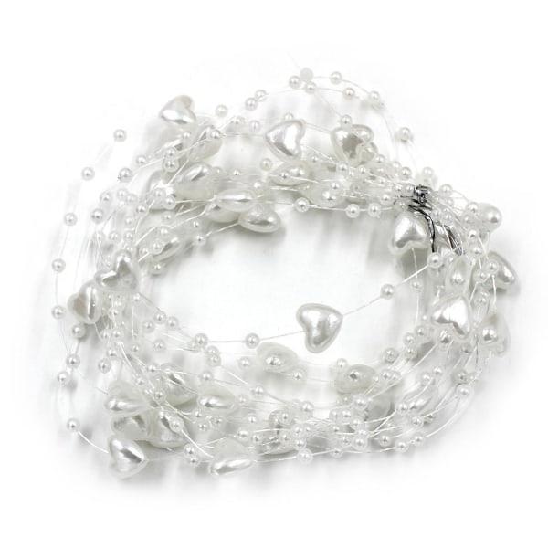 5m konstgjorda 13mm hjärta bröllop dekoration hår accessoarer 5m