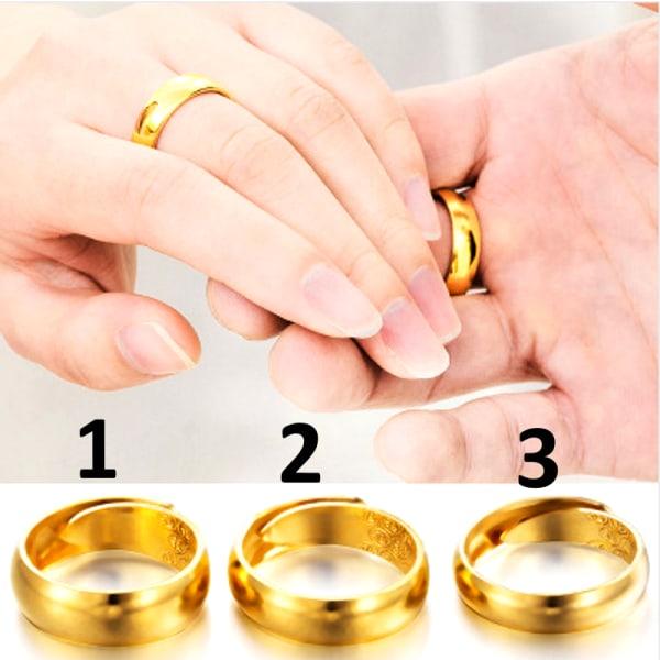 Guldpläterad RING guld 3
