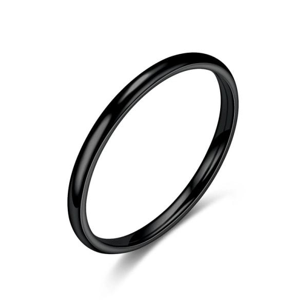 Rostfritt stål ring 2mm  SVART 18