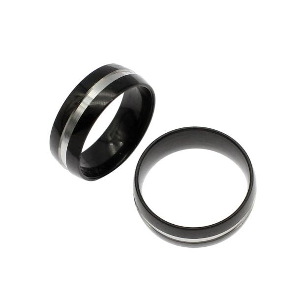 Rostfritt stål ring 7mm SVART 17