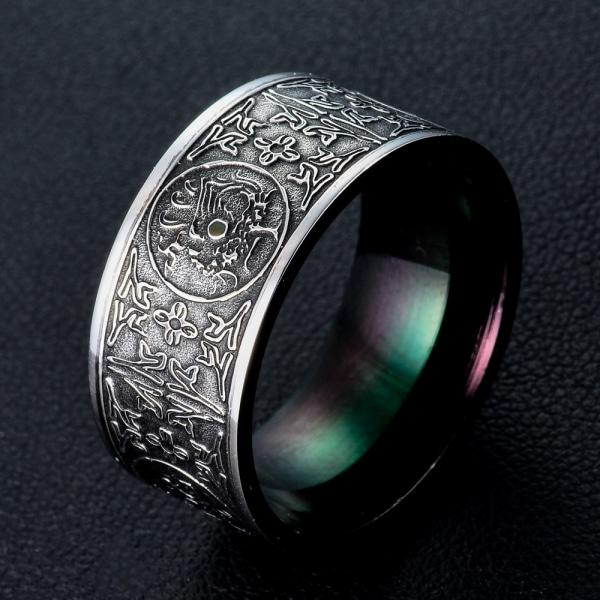 Titan stål ring 22