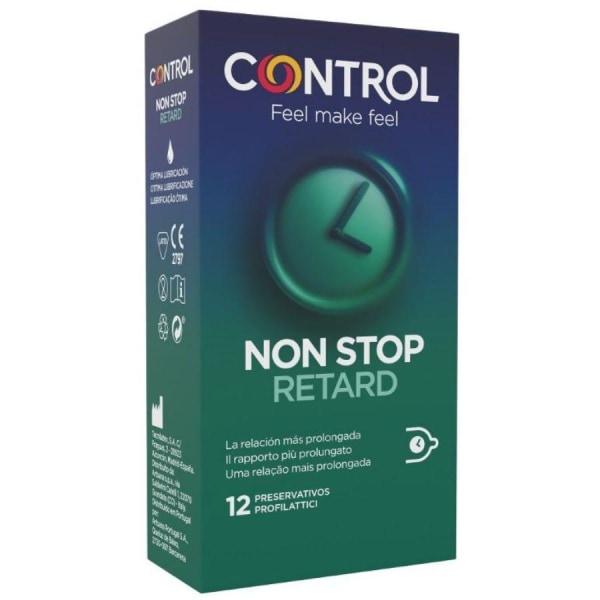 CONTROL NON STOP Fördröjningskondomer upp till 12 timmar Transparent
