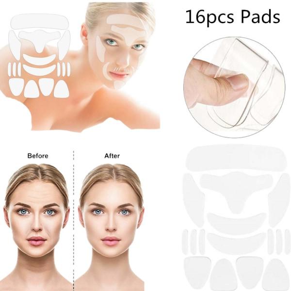 16st-ansikts anti-rynkplåster - Anti-aging ansiktsdyna för hudbil 16PCS