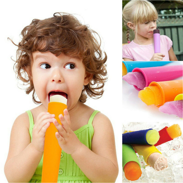 6st Ice Cream Popsicle mögel - DIY Glass mögel - för barn
