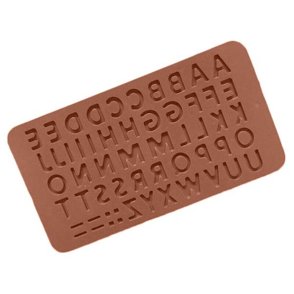 Alfabetet bokstäver choklad silikon form kaka godis formar
