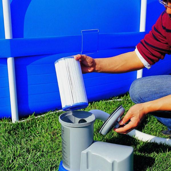 Återanvändbar tvättbar poolfilter för rengöring av byte