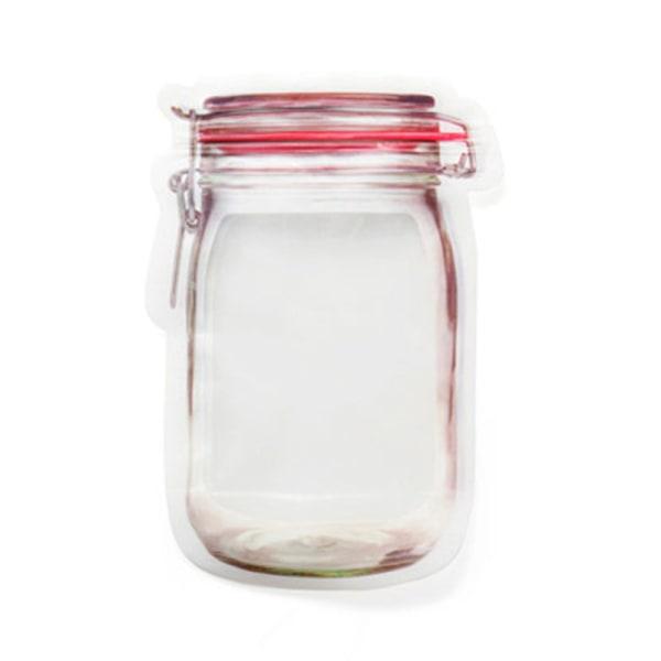 Bärbar transparent förseglad väska, färska förvaringsväskor M