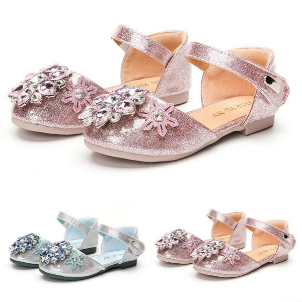 Princess Aisha Flickaskor Mjuk sålklänning Kristallskor Pink 28
