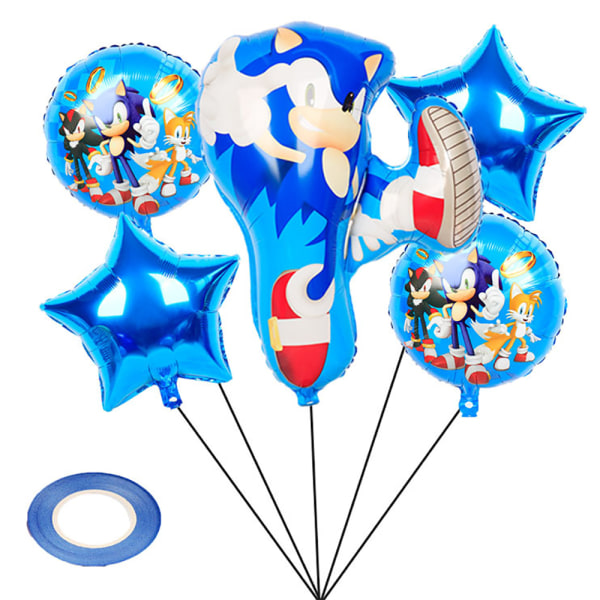 Festdekorationssats / födelsedagsfest / Sonic Hedgehog Balloo Blue