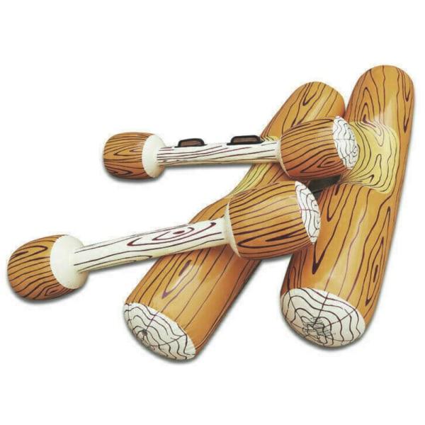 Simbassäng Wood Grain Ring Uppblåsbar Double Percussion Stick