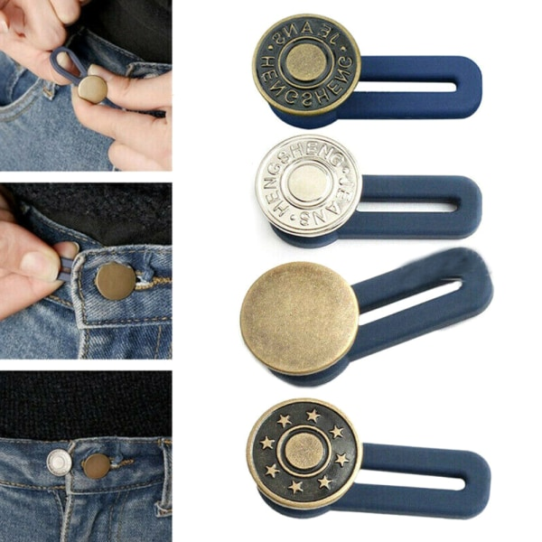 Vintage Flared Button / Soft Jeans Waist Release / Universal As pics