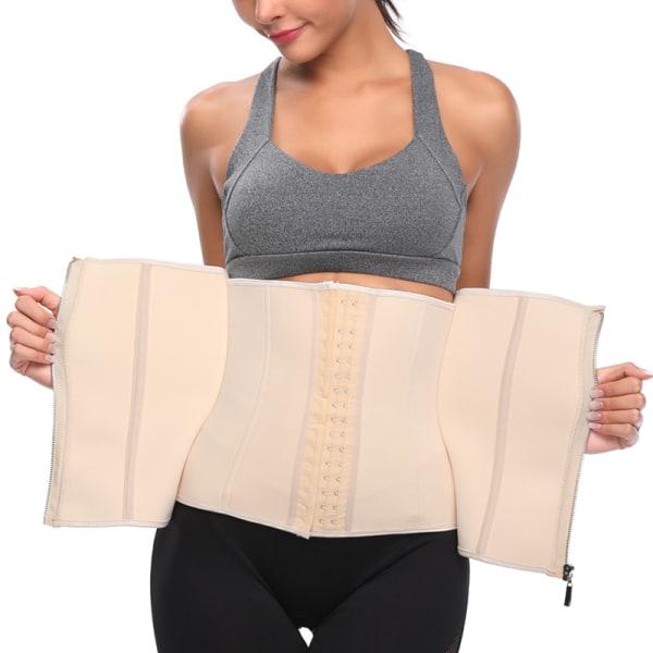 Kvinnor Body Shaping Underkläder Sport Midjebälte Andas Korsett Apricot 2XL