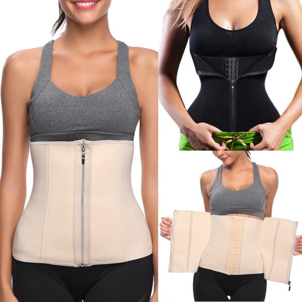 Kvinnor Body Shaping Underkläder Sport Midjebälte Andas Korsett Apricot 3XL