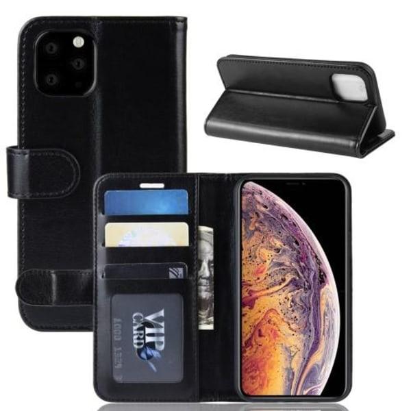 Crazy Horse Fodral för iPhone 11 Pro Max - Svart