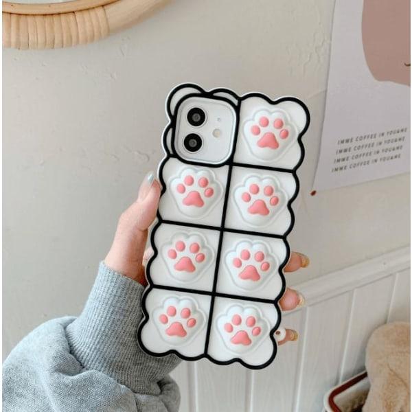 Puppy Paws Pop it Fidget -etui til iPhone 11 - Hvid