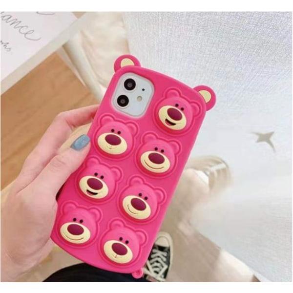Pink Bear Pop it Fidget Cover til iPhone 11