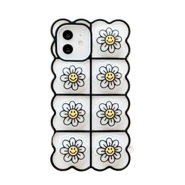 Smiley Flower Pop it Fidget -kotelo iPhone 11: lle - valkoinen
