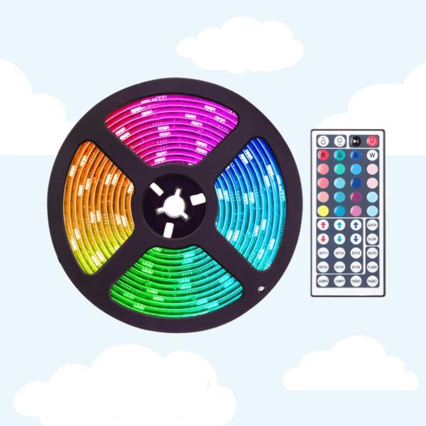 RGB LED-remsa - Ljusslinga - med fjärrkontroll - 5m