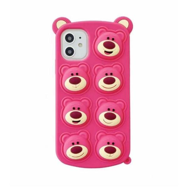 Pink Bear Pop it Fidget Cover iPhone 11: lle