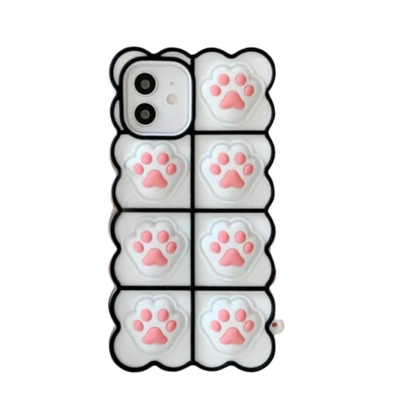 Puppy Paws Pop it Fidget -kotelo iPhone 11: lle - valkoinen