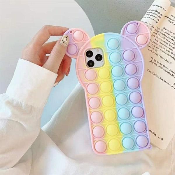 Panda Pop it Fidget Multicolor Skal till iPhone 7/8/SE (2020)