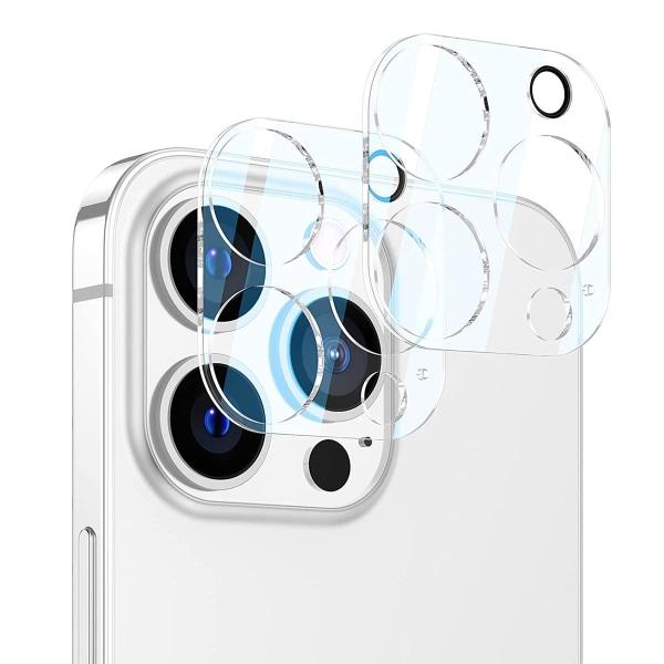 [2-Pack] Linsskydd Härdat Glas iPhone 13 Pro Kristall